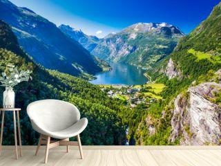 View of Geirangerfjord in Norway, Europe.