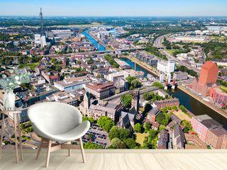 Duisburg city skyline in Germany