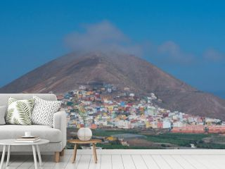 Volcano, Galdar village, Gran Canaria Island, The Canary Islands, Spain, Europe