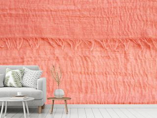 Coral colored voile fabric