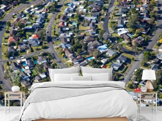 Newcastle residential surburb - Aerial View - Newcastle Australia