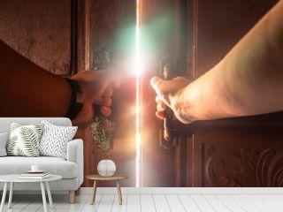 Hand open door light