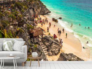 Beautiful Tulum beach at Caribbean sea, Mexico