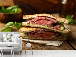 Homemade roast beef sandwich
