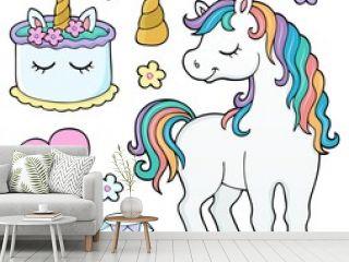 Unicorn and objects theme image 4
