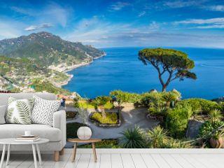 Sightseeing Villa Rufolo and it's gardens in Ravello mountaintop setting on Italy's most beautiful coastline, Ravello, Italy