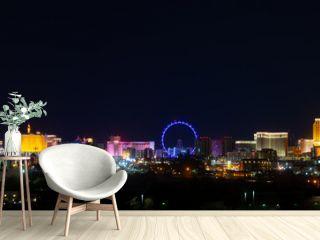 Cainos for Gambling on the Las Vegas Strip Skyline Panorama, Nevada, United States
