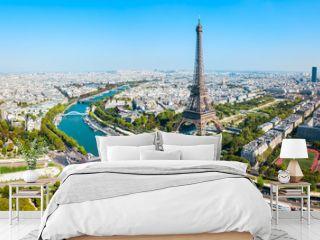 Eiffel Tower aerial view, Paris