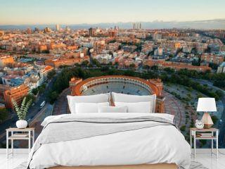 Madrid Las Ventas Bullring aerial view