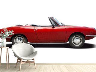 Classic Italian sport cabrio car isolated on white