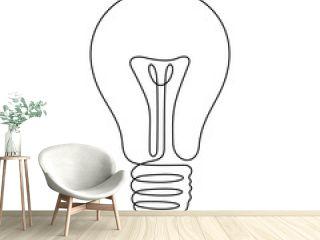 Light bulb continuous line vector illustration