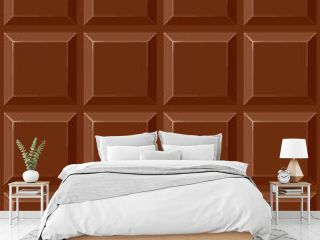Chocolate Squares Vector Seamless Repeat Pattern