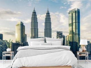 Creative Kuala Lumpur city background