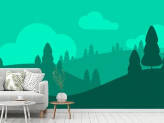 vector illustration of a landscape