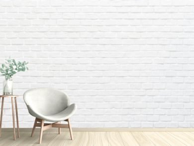 White brick wall texture background for stone tile block painted in grey light color wallpaper modern interior and exterior and backdrop design
