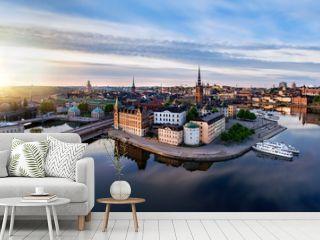 Panorama of Riddarholmen isle in Stockholm