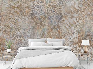 vintage floral background, patchwork, ager wallpaper pattern