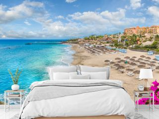 Landscape with El Duque beach at Costa Adeje. Tenerife, Canary Islands, Spain