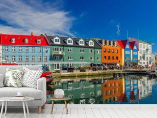 Torshavn city - the capital of The Faroe Islands, Denmark.