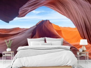 lower antelope slot canyon - background travel concept