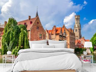 Bruges, Belgium - Rozenhoedkaai and Belfry