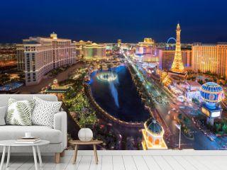 Las Vegas strip as seen at night