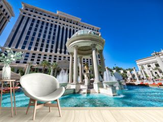 LAS VEGAS, NV - JUNE 27, 2019: Caesars Palace Hotel Casino. This is a major attraction in the city