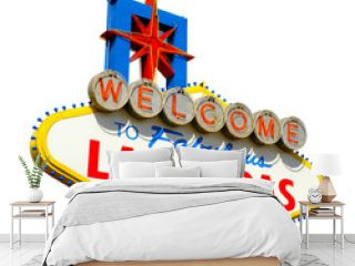 Welcome to Las Vegas sign isolated on white background including clipping path.