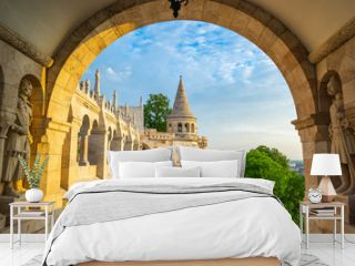 Tower of Fisherman's Bastion in Budapest city, Hungary