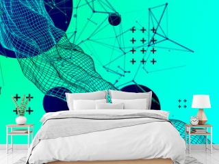 Abstract bright geometric  background. Vector illustration