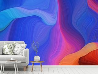 horizontal artistic colorful abstract wave background with royal blue, moderate pink and very dark magenta colors. can be used as texture, background or wallpaper