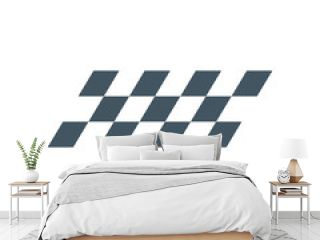 F1 Checkered symbol or flag, finish line. Stock Vector illustration isolated on white background.