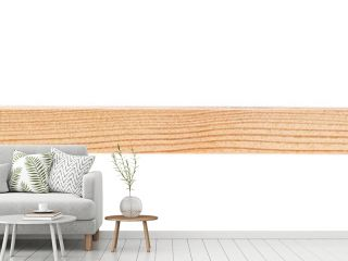 Wooden bar isolated on a white background