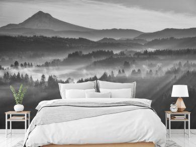 Lightrays and Mt Hood - Oregon