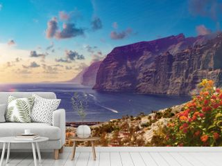 Los Gigantes Cliff, Canary Islands, Tenerife, Spain.Scenery landscape in Canary island.Sea and bech