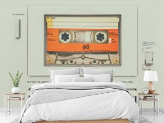 Retro styled image of a vintage audio cassette player