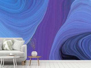 beautiful wide colored banner with slate blue, rosy brown and old mauve color. modern soft swirl waves background illustration