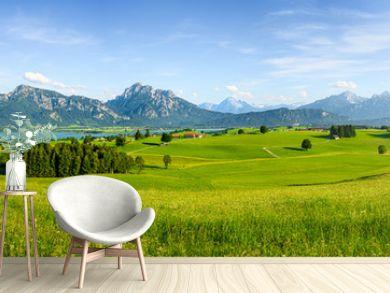 Panorama of rural Bavaria, Allgäu, Germany