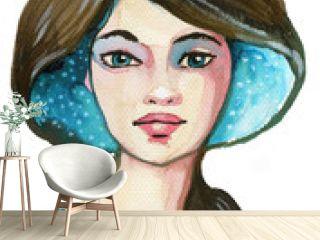 Woman, portrait,