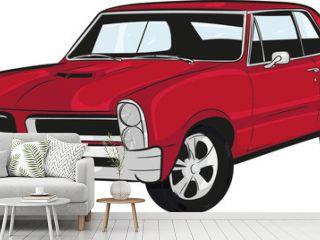 cartoon car, muscle car,classic car,historic car