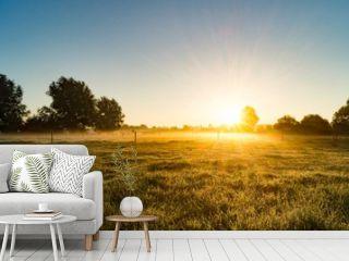 Idyllic Shot Of Sunlight On Landscape Against Sky