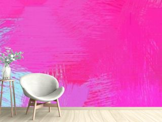 wide landscape graphic with artistic brush strokes background with neon fuchsia, light steel blue and cadet blue