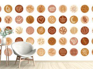 bundle of boho set icons