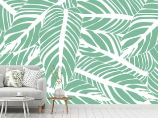 Flower line art background vector, wallpaper and print, Vector illustration.
