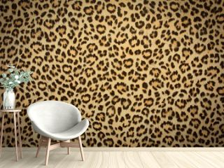leopard skin background texture, real fur retro design, close-up wild animail hair modern