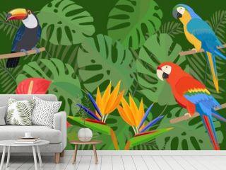 トロピカルなイメージ Birds od paradise