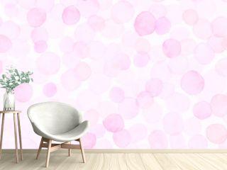 Pink Seamless Girly Wallpaper. Watercolour