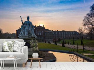 Magnificent exterior and the garden of Kensington Palace captured in London, England