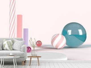 Abstract geometric shapes 3d background