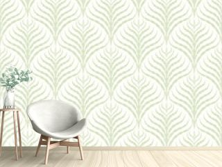 Seamless pattern in art Deco style. Decorative illustration of a palm tree, vintage ornament in vector. Wallpaper or elegant fabric. Damask